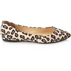 Forever 21 Women's  Pointed Leopard Print Flats ($18) ❤ liked on Polyvore featuring shoes, flats, forever 21 shoes, pointed flat shoes, leopard print flats, pointed-toe leopard flats and pointy toe shoes