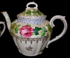 E.S. Germany Prussia (Schlegelmilch) Tea Pot and Sugar Bowl