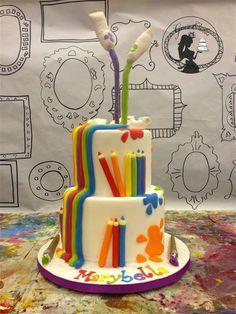 Gravity Cake, Art Cake by Gia's Cakes Art Birthday Cake, Artist Birthday, Anti Gravity Cake, Gravity Defying Cake, Gravity Art, Fondant Cakes, Cupcake Cakes, Stiff Buttercream Frosting Recipe, Artist Cake