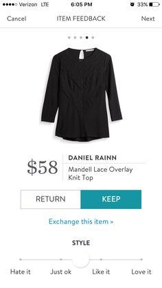 Stitch Fix Item: Daniel Rainn Mandell Lace Overlay Knit Top #stitchfix