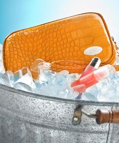 "Cool-it Caddy.  A makeup bag with a ""cool"" twist.  Just freeze, grab and go.  Coolant is built in.Cool-itCaddy.com"