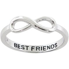 Celebrate your friendship with this gorgeous sterling silver ring from Eternally Haute. Discreet enough for everyday wear, this delicate ring's elegance lets you wear it to dressier occasions for a be