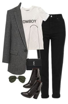"""""""Sem título #1571"""" by oh-its-anna ❤ liked on Polyvore featuring Yves Saint Laurent, Topshop and Étoile Isabel Marant"""