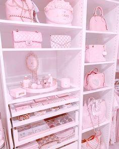 Girl Bedroom Designs, Room Ideas Bedroom, Bedroom Decor, Pink Vanity, Baby Pink Aesthetic, Cute Room Ideas, Kawaii Room, Glam Room, Aesthetic Room Decor