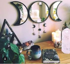 Creating a sacred space is an important part of mainting a high vibe. Here is a step-by-step guide to creating a high vibe sacred space in your own home. Witch Room, Wiccan Decor, Room Ideas Bedroom, Decor Room, Room Decorations, Zen Bedroom Decor, Black Room Decor, Bedroom Lamps, Bedroom Modern