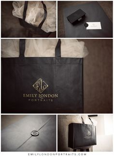 The beautiful packaging from Emily London Portraits in Utah.