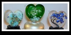 Etched hearts lampwork beads 25.00 ea.https://www.facebook.com/WindSweptTreeGlassArt/