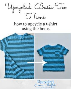 Feather's Flights {a creative, sewing blog}: Upcycled: Basic Tee Hems #upcycledkid #upcycling #sewingtutorial #kidfashion