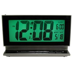 Elgin 2-Inch LCD Multifunction Alarm with Smartlite by Elgin. $13.19. Smartlite auto sensor automatically illuminates display in a dark environment. 2-inch displays time in 12/24-hour format, month, date and alarm time. Ascending alarm and repeating snooze. Green backlight on demand. Having trouble reading your alarm clock at night.This easy to read LCD alarm clock features smartlite technology that allows the display to light up when the lights are off.The green backl...