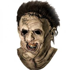 Leatherface Halloween Mask- Halloween masks collection by Asher Socrates. #halloween #masks #scary #holiday #candy #love #chainsaw #costume #ashersocrates