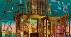 Impressionism. Note - Impressionism. Note the use of color draws the eyes. Texture shows the decay of the family. --- #Theaterkompass #Theater #Theatre #Schauspiel #Tanztheater #Ballett #Oper #Musiktheater #Bühnenbau #Bühnenbild #Scénographie #Bühne #Stage #Set