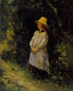 Girl at the edge of the forest by Édouard Manet