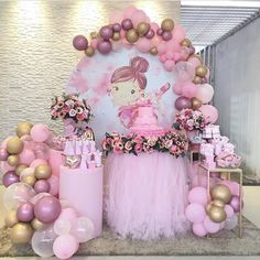 5 clever ideas to prepare the nursery. Ballerina Party Decorations, Princess Birthday Party Decorations, Ballerina Birthday Parties, Baby Birthday Cakes, Birthday Backdrop, Girl Baby Shower Decorations, Balloon Decorations Party, Birthday Balloons, Fiesta Baby Shower