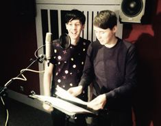 """hyungwonns-deactivated20160817: """" Hmm.. what are @AmazingPhil and @danisnotonfire doing in our recording studio today? """""""