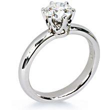 Half Round Custom Crowne Engagement Ring | Diamond Ideals