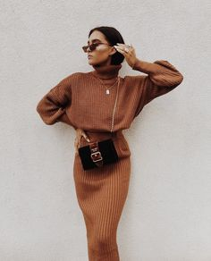 Cosy Autumn Winter Co-Ord Knitted Top And Skirt Co-ord Autumn Fashion Outfit Ideas Casual Weekend Inspo Mode Outfits, Trendy Outfits, Fashion Outfits, Fashion Trends, Fashion Clothes, Womens Fashion, Clothes Women, Fashion Ideas, Fashion Hacks