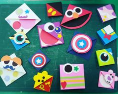 Felt Bookmark, Bookmark Craft, Corner Bookmarks, Bookmarks Kids, Green Crafts For Kids, Valentine Crafts For Kids, Art For Kids, Crafts To Sell, Easy Crafts