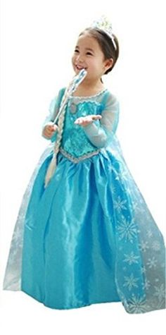 ELSA & ANNA® Princesa Disfraz Traje Parte Las Niñas Vestido (Girls Princess Fancy Dress) ES-DRESS-SEP (2-3 Años, ES-SEP306) ELSA & ANNA http://www.amazon.es/dp/B016NGP1W6/ref=cm_sw_r_pi_dp_HxkPwb11WD04G