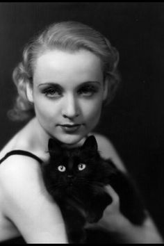 Cat and staff Carol Lombard =^..^= <3