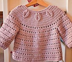 Crochet PATTERN - Falling Leaves Cardigan (sizes baby up to 8 years)