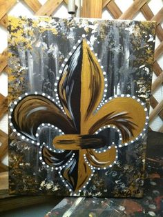 Saints Fleur De Lis -Peace Of Art by MelKay (I take orders!)