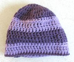 Another view of my lavender & lilac hat. Free pattern at https://donnamarrin.wordpress.com/2015/03/12/when-on-vacay-crochet/