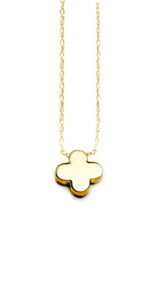 Albeit Jewelry Pendant necklaces 14k , clover shaped, clover, solid gold necklaces