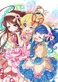 Three lovely idols. [Aikatsu!]