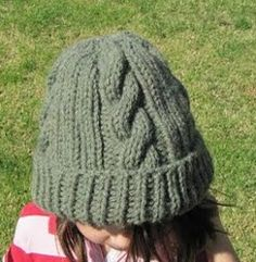 Easy Ribbed Cable Hat | AllFreeKnitting.com