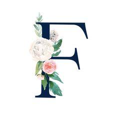 Buchstabe - Letter F Monogram Wallpaper, Alphabet Wallpaper, Wall Art Wallpaper, Iphone Wallpaper, Kids Prints, Art Prints, Flower Henna, Beautiful Dark Art, Unicorn Art