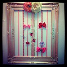 Bow hanger in Harper's Room!
