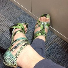 Python strappies from ninewest!