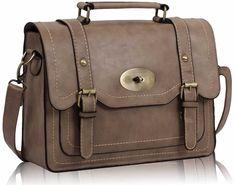 Nude vintage buckle satchel