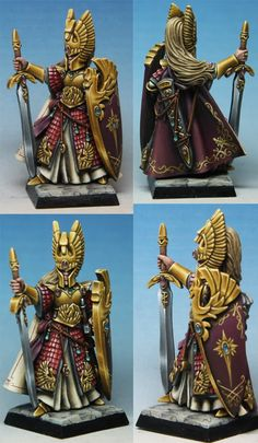 The Internet's largest gallery of painted miniatures, with a large repository of how-to articles on miniature painting Figurine Warhammer, Warhammer Art, Warhammer Fantasy, Fantasy Sword, Fantasy Battle, High Fantasy, Fantasy Paintings, Mini Paintings, Rackham Miniatures