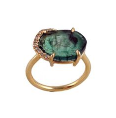 Sliced Emerald. I am in love with you. collections - Rings - Aroc Urtu