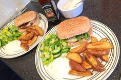 Empty the Freezer Challenge 2016 Week 2 veggie cheeseburgers and tex mex wedges