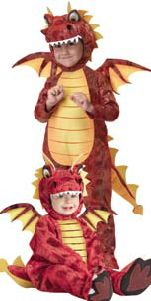Cute kids dragon Halloween costumes