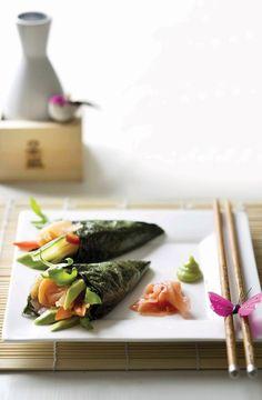 Recipe: Vegetable and Seafood Temaki-Sushi Cones|手巻き寿司
