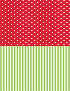 Click the link above to download our four-page pack of Christmas patterns. The file includes red polka dot, solid red, green stripe and solid green. We printed the papers back-to-back to create our…