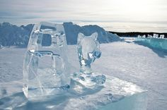 Ice Hotel Photograph - Ice Sculpture by Tamara Sushko