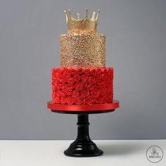 Торт Алые рюши №1805 на заказ в Москве