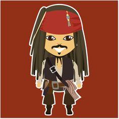Adesivo Jack Sparrow de @estudioagridoce   Colab55