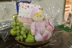 New Baby? Order one of our baby baskets - this one is going out to a very cute little girl. #designedbywhites
