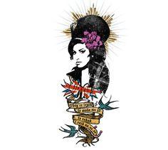 Amy Winehouse  - Glamour Magazine  - Illustration by ©Luis Tinoco -   WWW.LUISTINOCO.COM
