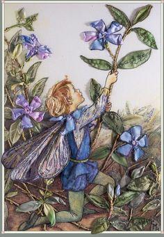 I ❤ ribbonwork . . .   The Periwinkle Fairy  Mon, September 15, 2008  Embroidered by Di van Niekerk