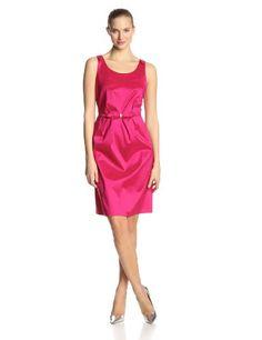 Dana Kay Women's Sleeveless Bow Detail Flare Dress, Fuchsia, 8
