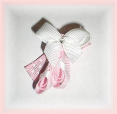 BALLET Ballerina Slippers Ribbon Hair Bow by BowsForBellesShop, $4.75