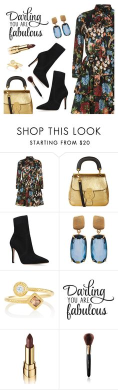 """Outfit of the Day"" by dressedbyrose ❤ liked on Polyvore featuring Alice + Olivia, Burberry, Gianvito Rossi, Marco Bicego, De Beers, WALL, Dolce&Gabbana, ootd and polyvoreeditorial"