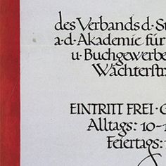 Jan Tschichold, poster for a graphic art exhibition, 1919. Symmetry and historical letterforms characterize Tschichold's 's youthful work