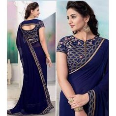 Looking for blouse designs photos? Here are our picks of 30 trending saree blouse models that will blow your mind. Indian Blouse Designs, Blouse Back Neck Designs, Fancy Blouse Designs, Designs Kurta, Lehenga Designs, Saree Blouse Models, Saree Blouse Patterns, Designer Blouse Patterns, Saree Dress